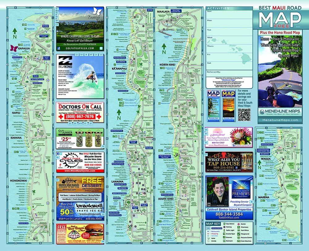 MRM-R2H-NewSize-SideA3-1 Kihei Road Map on south maui beach map, kailua road map, long beach road map, maui road map, hawaiian islands road map, richmond road map, oahu road map, waikoloa road map, kapaa road map, alexandria road map, kamaole sands site map, kauai road map, south lake tahoe road map, lahaina road map, scottsdale road map, wailea road map, pasadena road map, hawaii road map, berkeley road map, santa rosa road map,