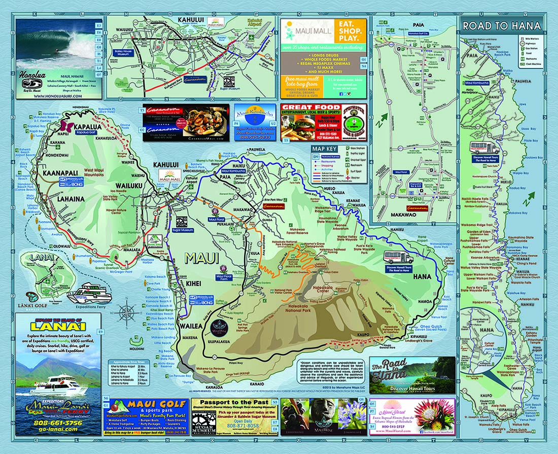 Maui Traffic Map.Kahului Maui Hawaii Usa Cruise Port Of Call