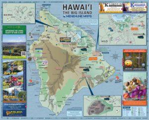 Hawaii Big Island Road Map Side B - Menehune Maps