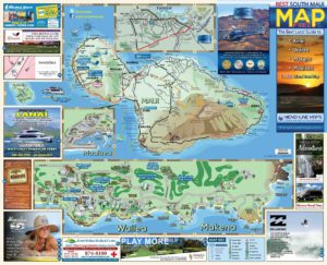South Maui Road Map Side A - Menehune Maps
