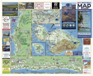 Menehune Maps Hawaii West Maui Map Side A