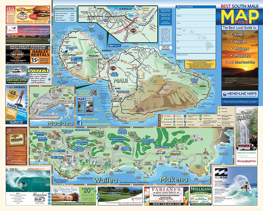 South Maui Map Menehune Maps