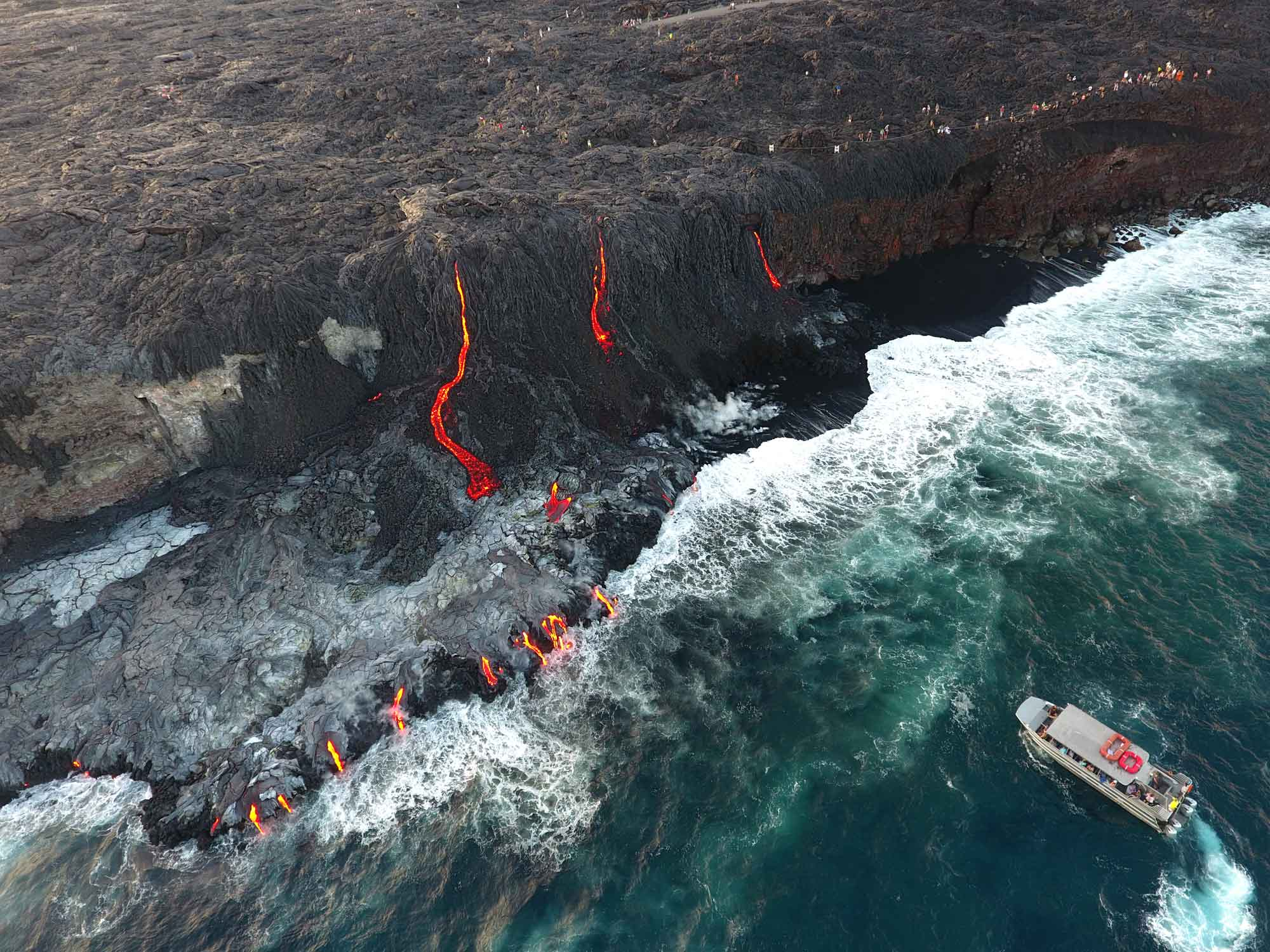 Lava ocean cruise Hawaii