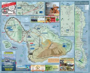 2019 Maui Road Map Side B - Menehune Maps